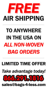 Free Shipping on all Non Woven Bag Orders